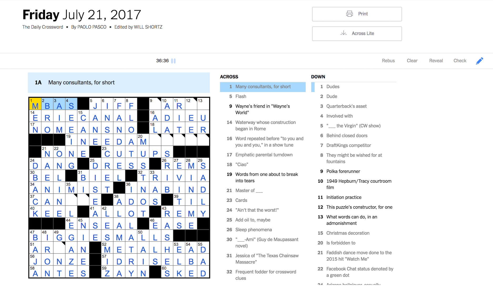 How i mastered the saturday nyt crossword puzzle in 31 days so while i can almost finish a friday puzzle i can barely make a dent in a thursday puzzle whats going on here ccuart Gallery