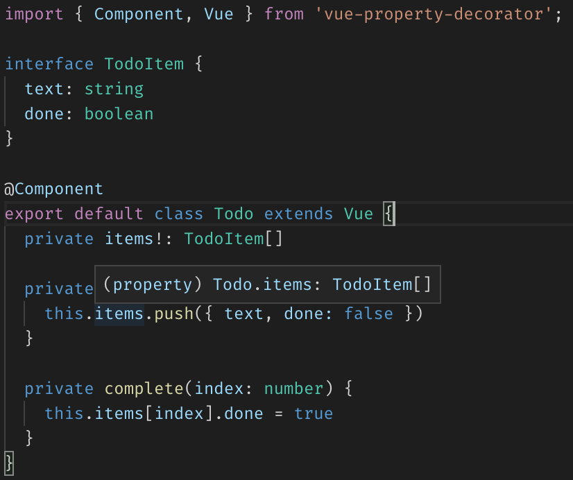 VS Code type inference in Vue components written in TypeScript