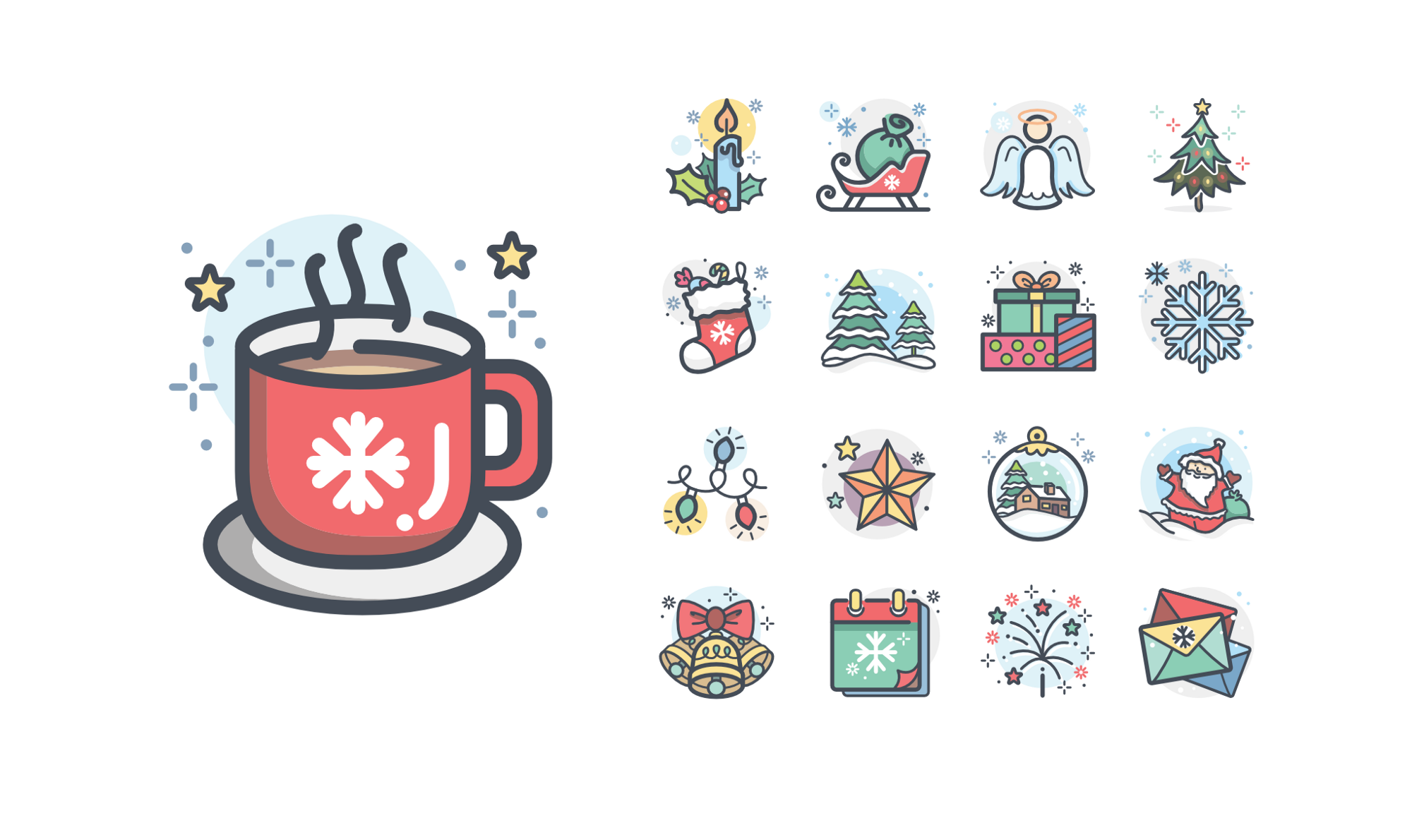 12 Stunning Christmas Icon Sets The Iconfinder Blog
