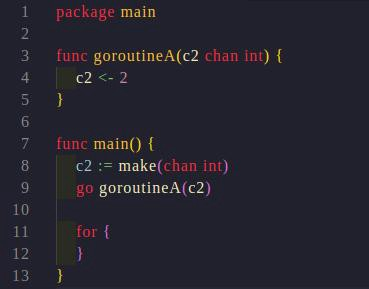 Don't run this code it will cause panic in normal mode.