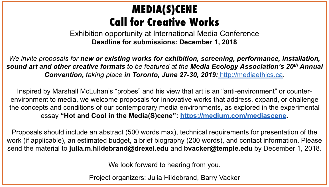 Hot and Cool in the MediaScene: A McLuhan-Style Art and Theory Project