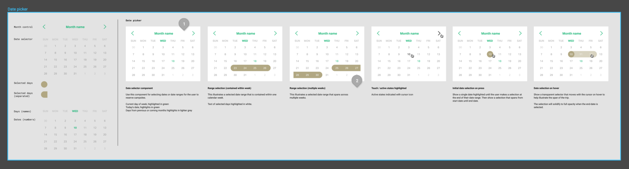 Component Architecture In Figma Design Updated Wiring Diagram Click On Components For Write Ups The Master Which Make Up Date Picker Reside A Frame Named Appropriately So They Get Grouped Panel