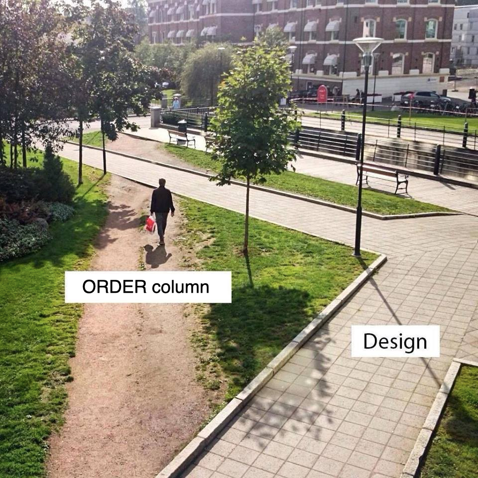 'Experience' versus design, applied to Lists in a relational model (original source unknown)