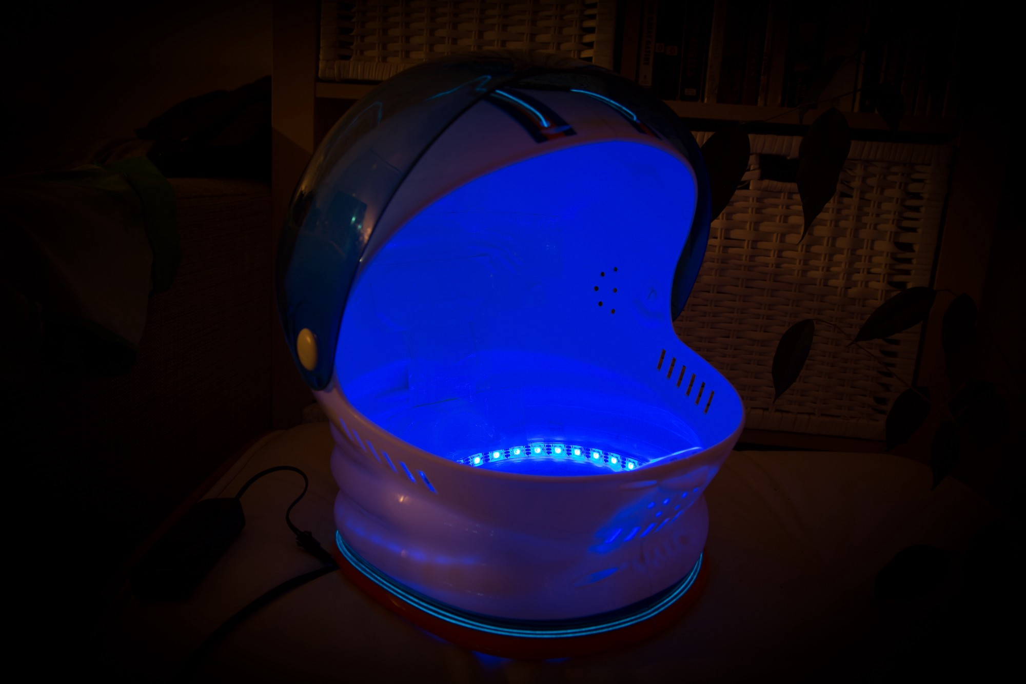 How To Build Your Own Bluetooth Connected Astronaut Halloween Costume Arduino Lights Dimmer For Multiple Lamps An Helmet Like You Find Many Of Them On Amazon With Added El Wire Led Strip And Connectivity Using