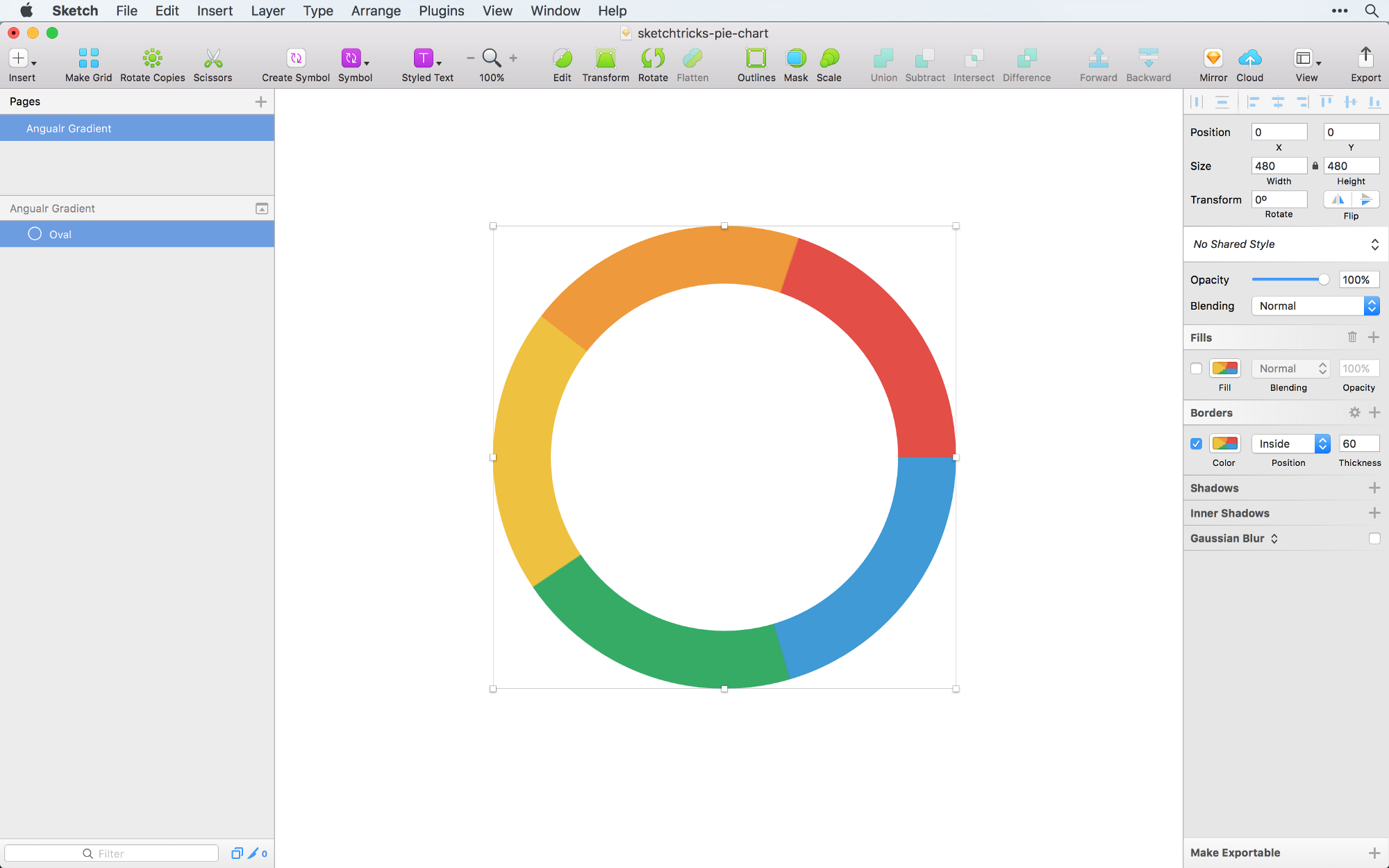 Creating a pie chart in sketch the right way sketch tricks medium until recently the angular gradient method was the only one with the full control over a pie chart sketchy pies plugin only allowed to insert equal slices nvjuhfo Image collections