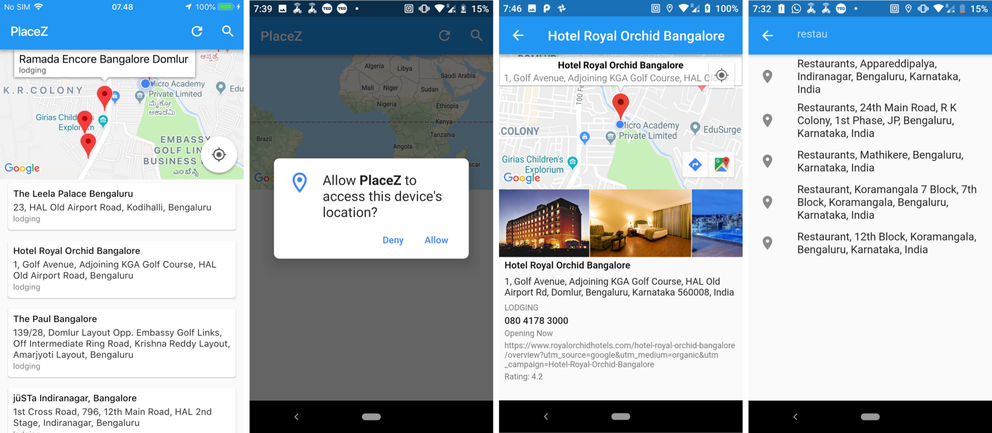 Location Search App with Map View Using Flutter | Flutter App Dev