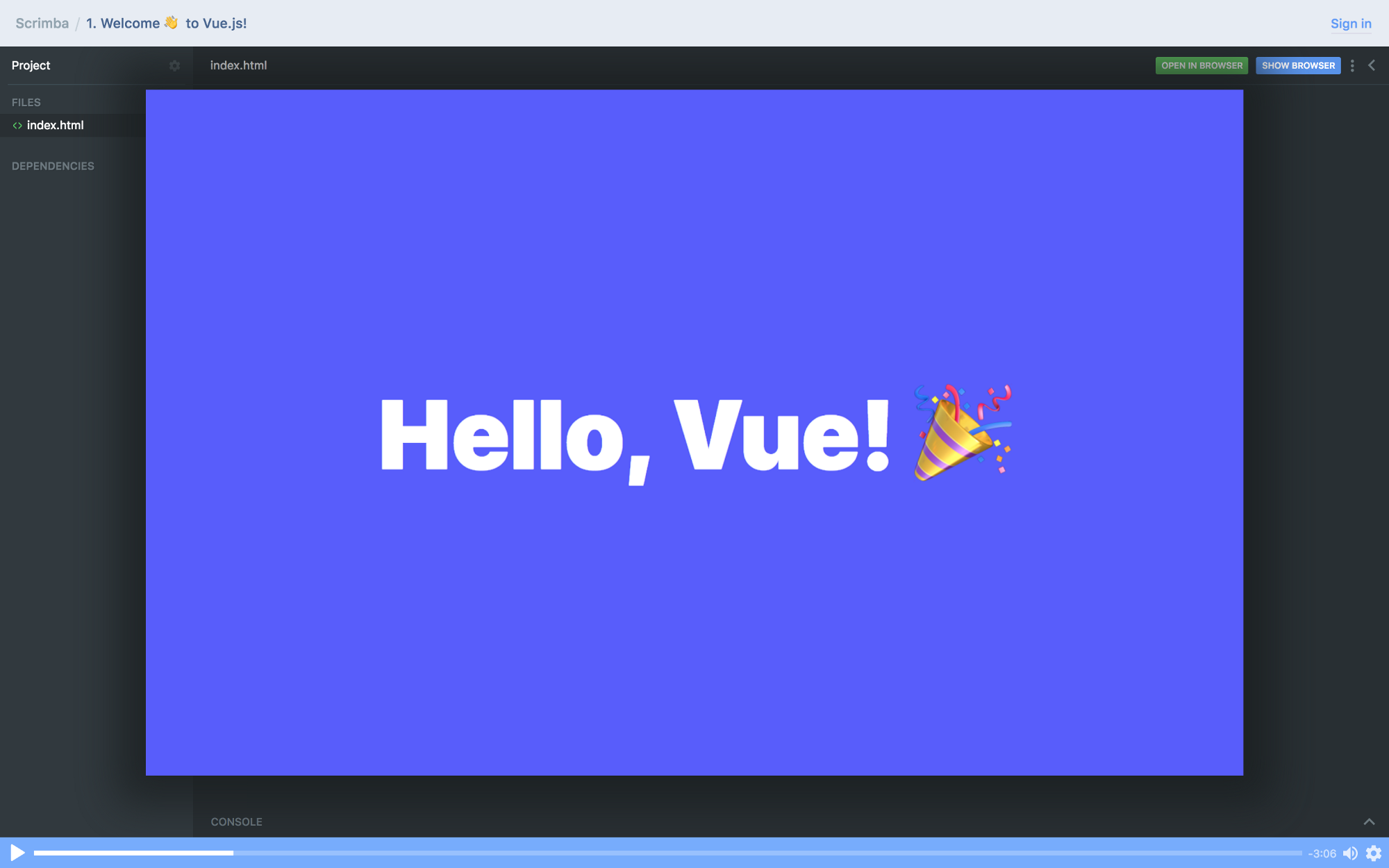 Click to enroll in my free Vue course!