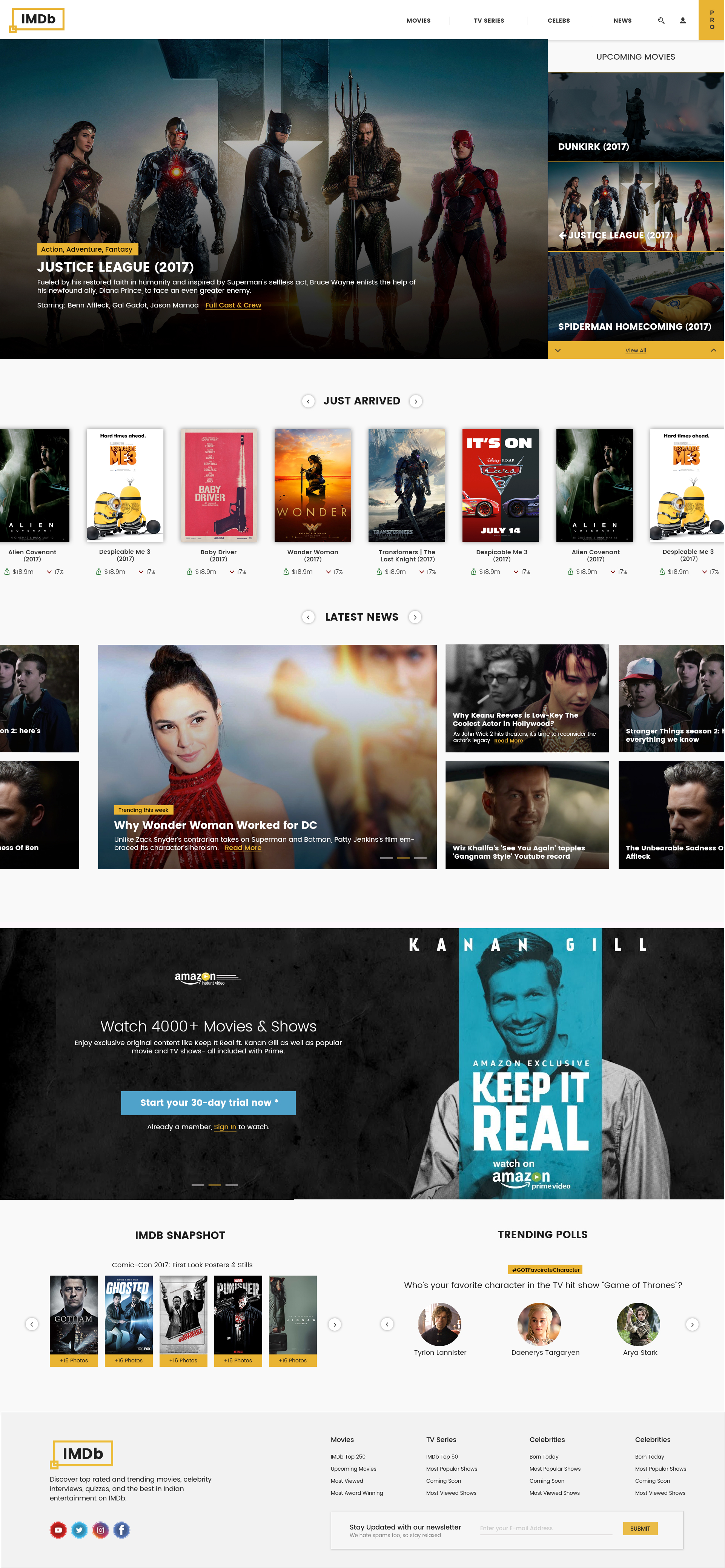 redesigning imdb modernising the look and improving the user  imdb homepage movie page