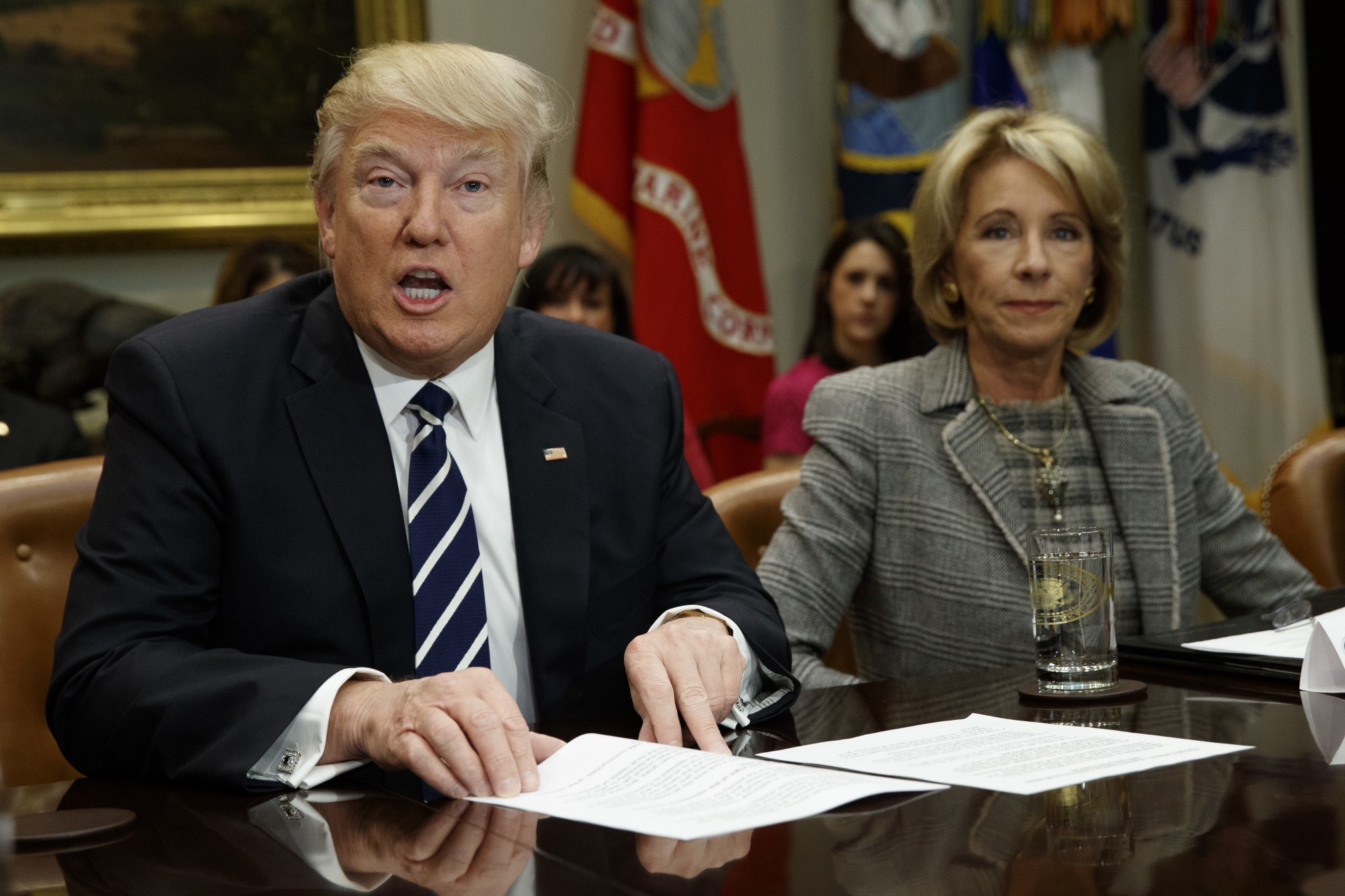 Facts your daily digest of the undigestible the alternative president trump and education secretary betsy devos at a february 14 2017 white house meeting with teachers and parents sciox Choice Image