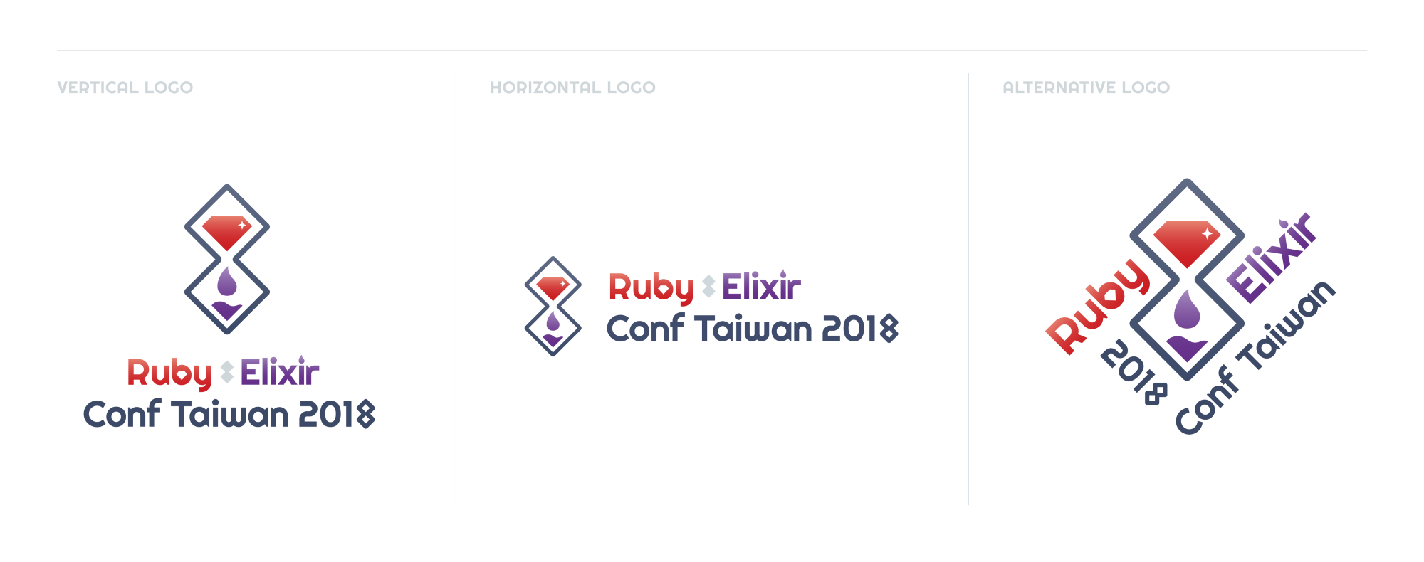 Logo Design for Ruby x Elixir Conf Taiwan 2018