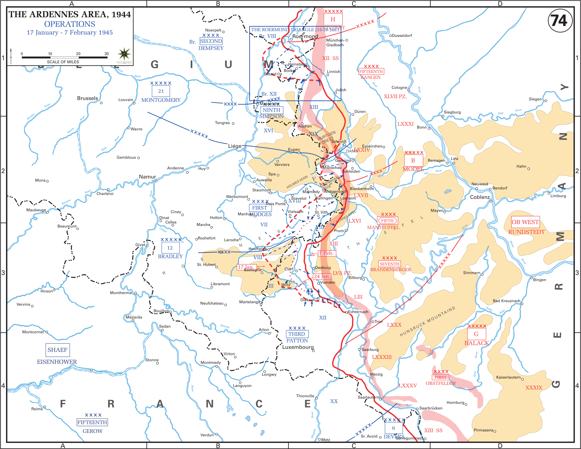 german ardennes counter offensive 17 january 7 february 1945
