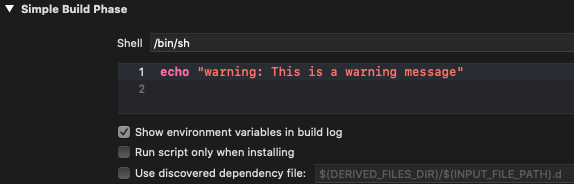 """Prefix the message with """"warning"""" to present it in Issue Navigator"""
