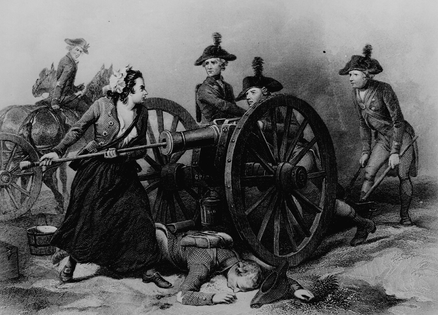 The first woman to receive a U.S. military pension manned her husband's cannon after he was killed