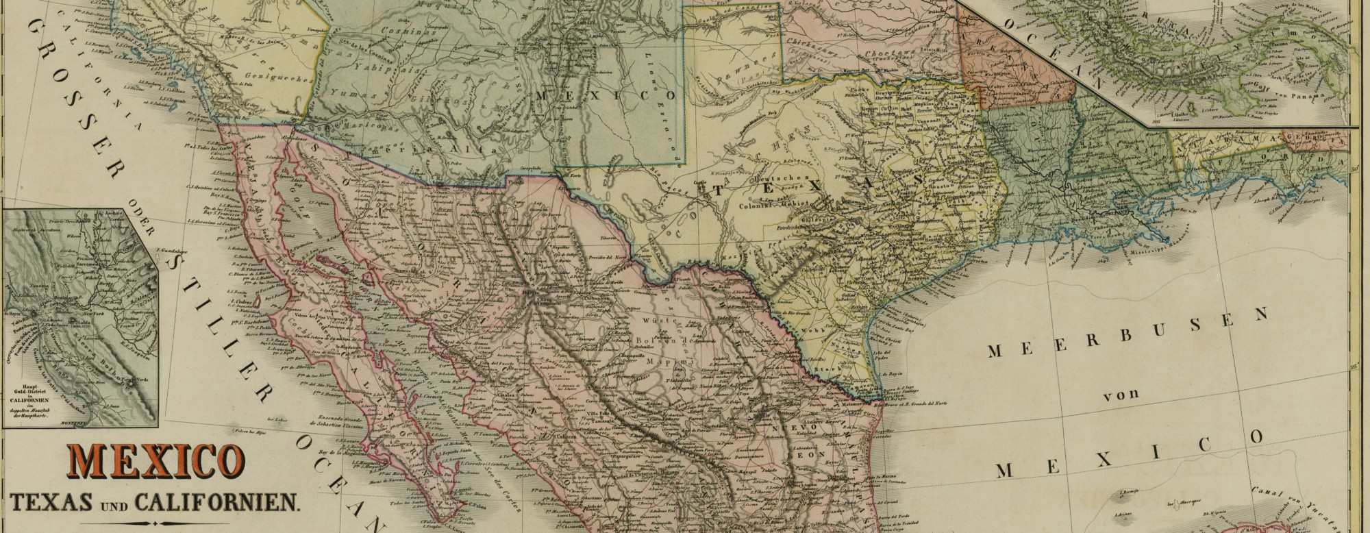 h kiepert mexico texas und californien 1855 weimar germany map 93651 map collection archives and records program texas general land office
