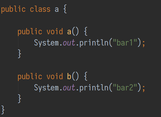 Obfuscated version of class Foo