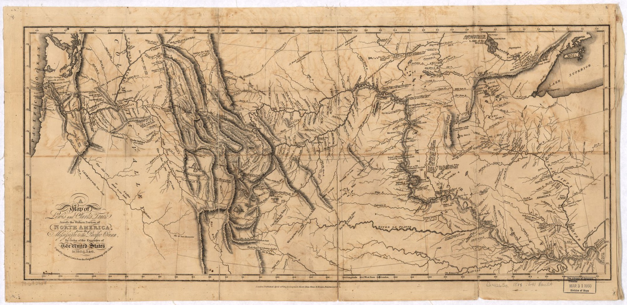 The Intelligence Legacy Of Lewis And Clark  NGA  Medium - Map of the united states before lewis and clark