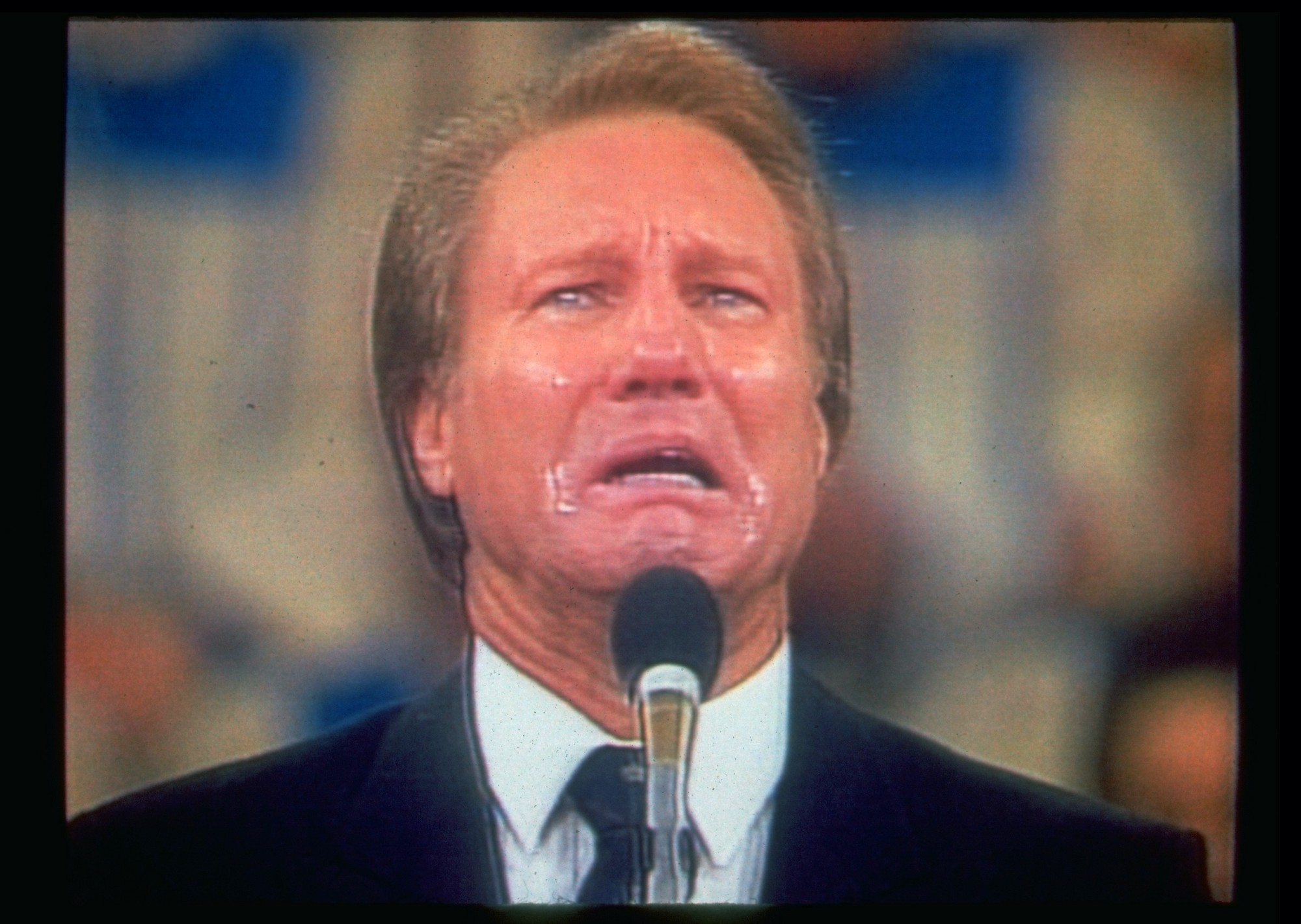 in 1988 jimmy swaggart became the poster boy for corruption in the evangelical revival circuit and hes still preaching today