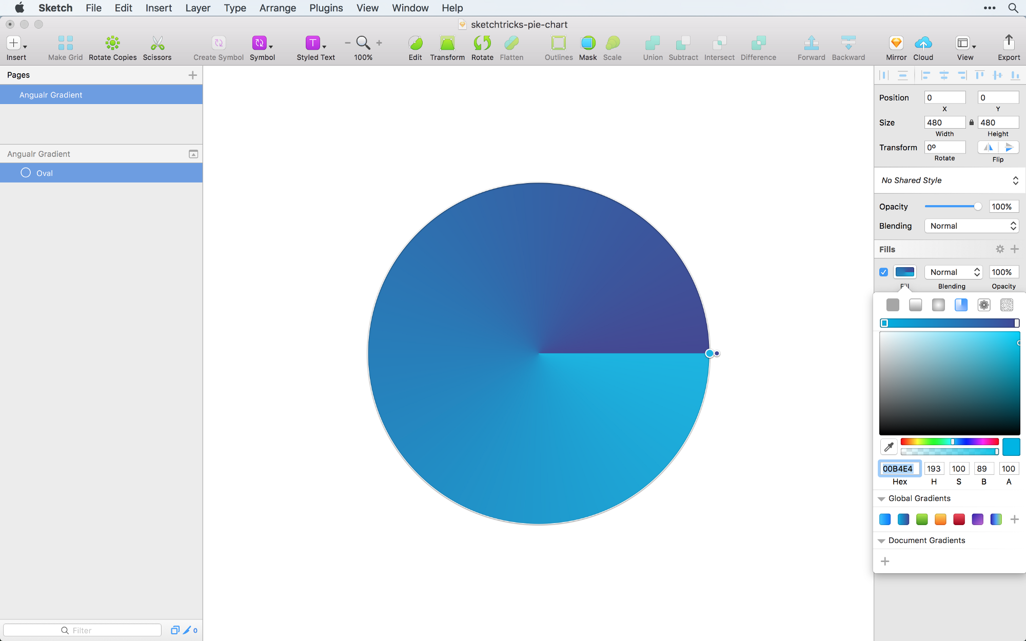 Creating a pie chart in sketch the right way sketch tricks medium im going to make a pie chart with five equal slices the easiest way to divide them is to click on the plus symbol while hovering nvjuhfo Images