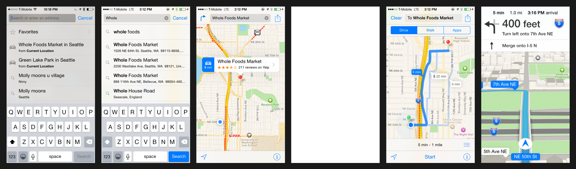 Apple Maps Flow Real Screen