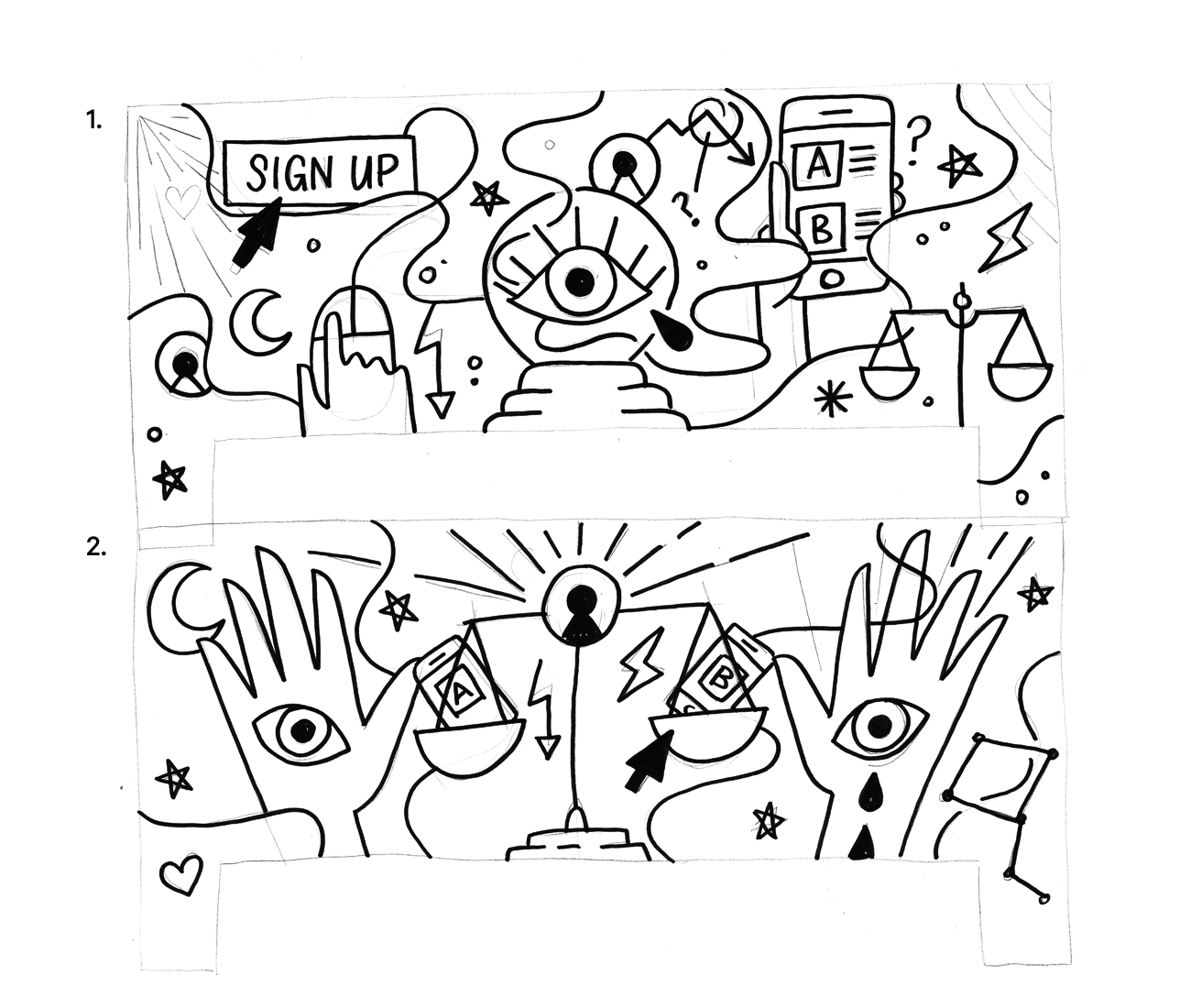 Behind The Scenes On Inside Intercom Illustrations High Quality Early Sketches From Illustrator Laura Bohill