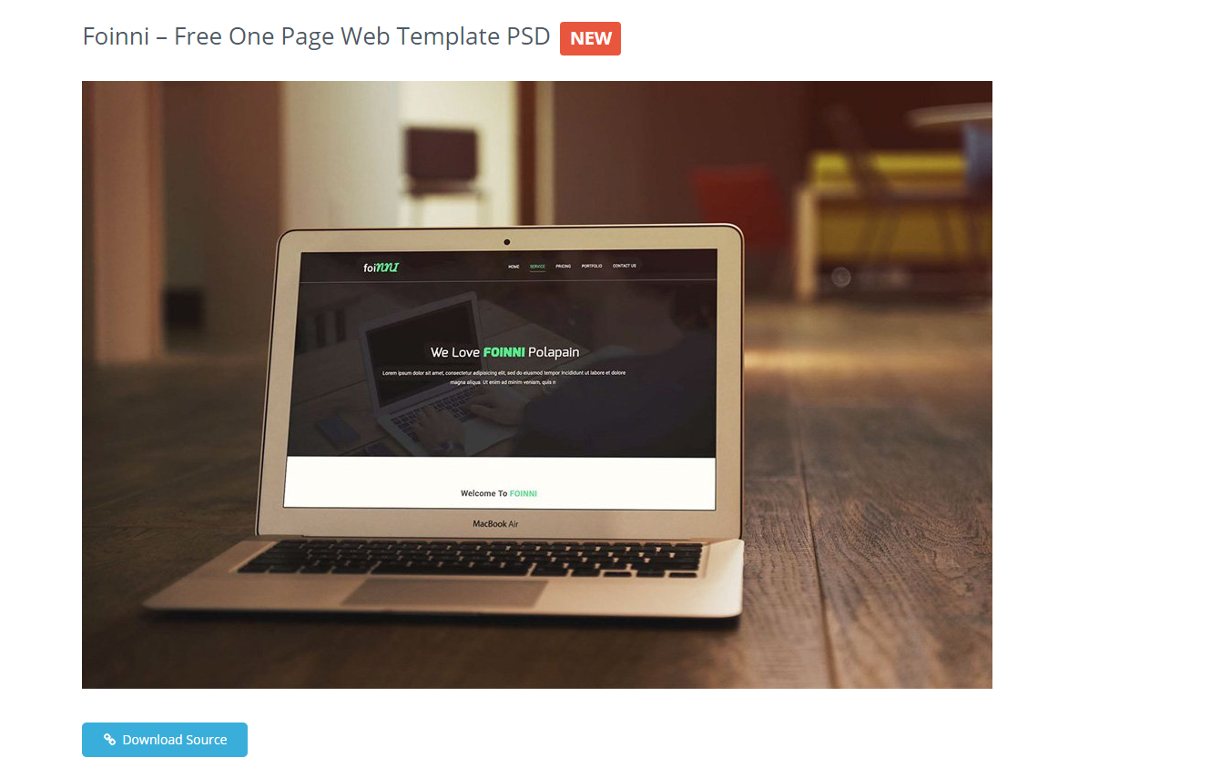 One page templates for designers prototypr for Css author