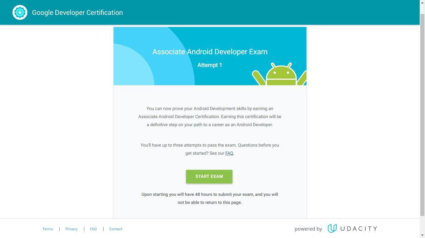 Google Certified Associate Android Developer Exam Walkthrough