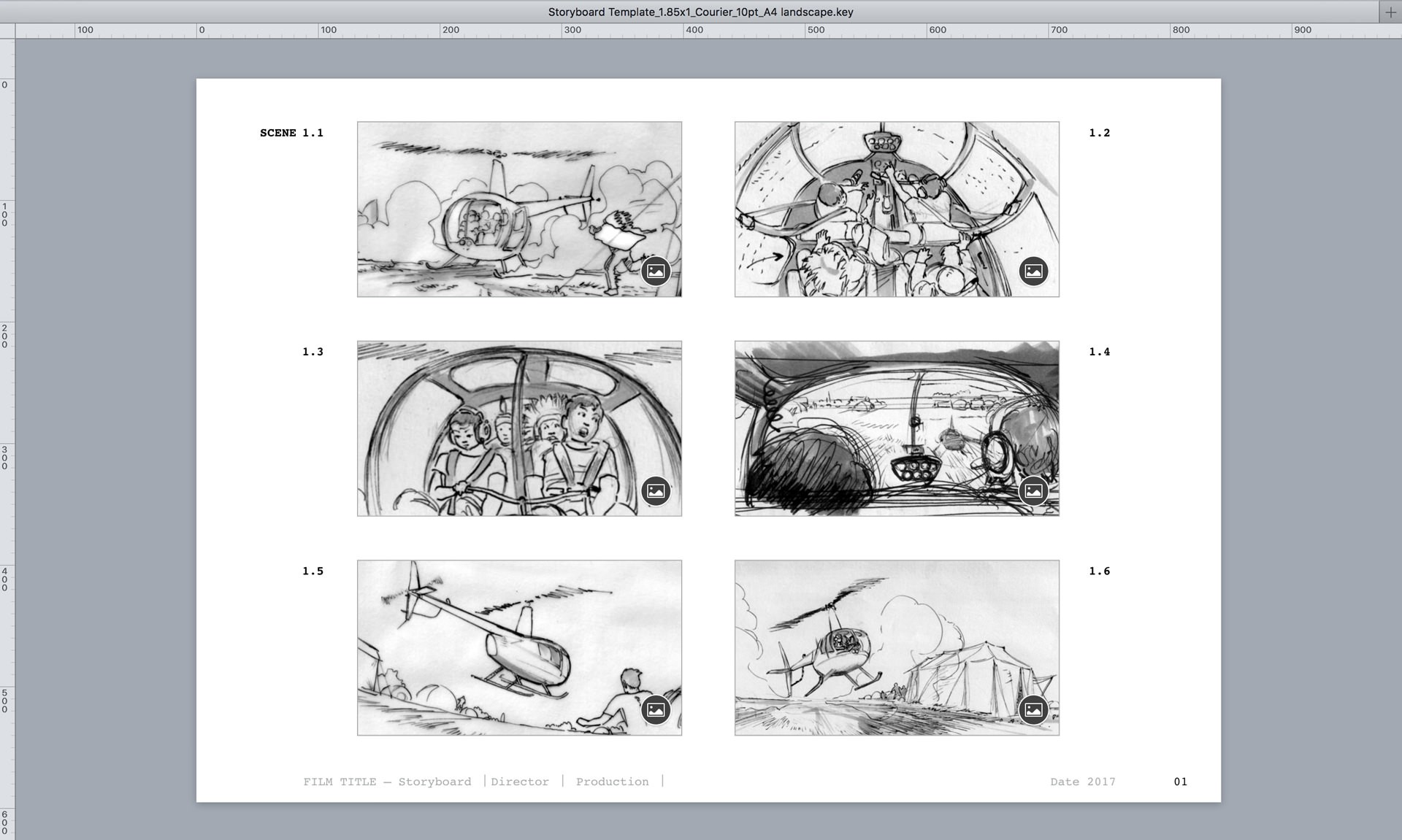 1851 Keynote Theme For Storyboards Sample In Use