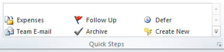 Quick Steps vastly speed up email processing