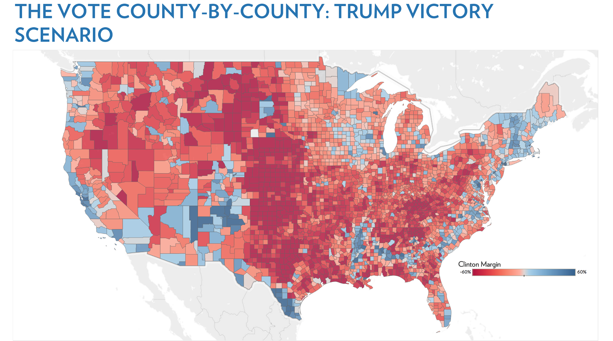 Mapping The Demography Of The Election Echelon Indicators - Us map of trump county wins