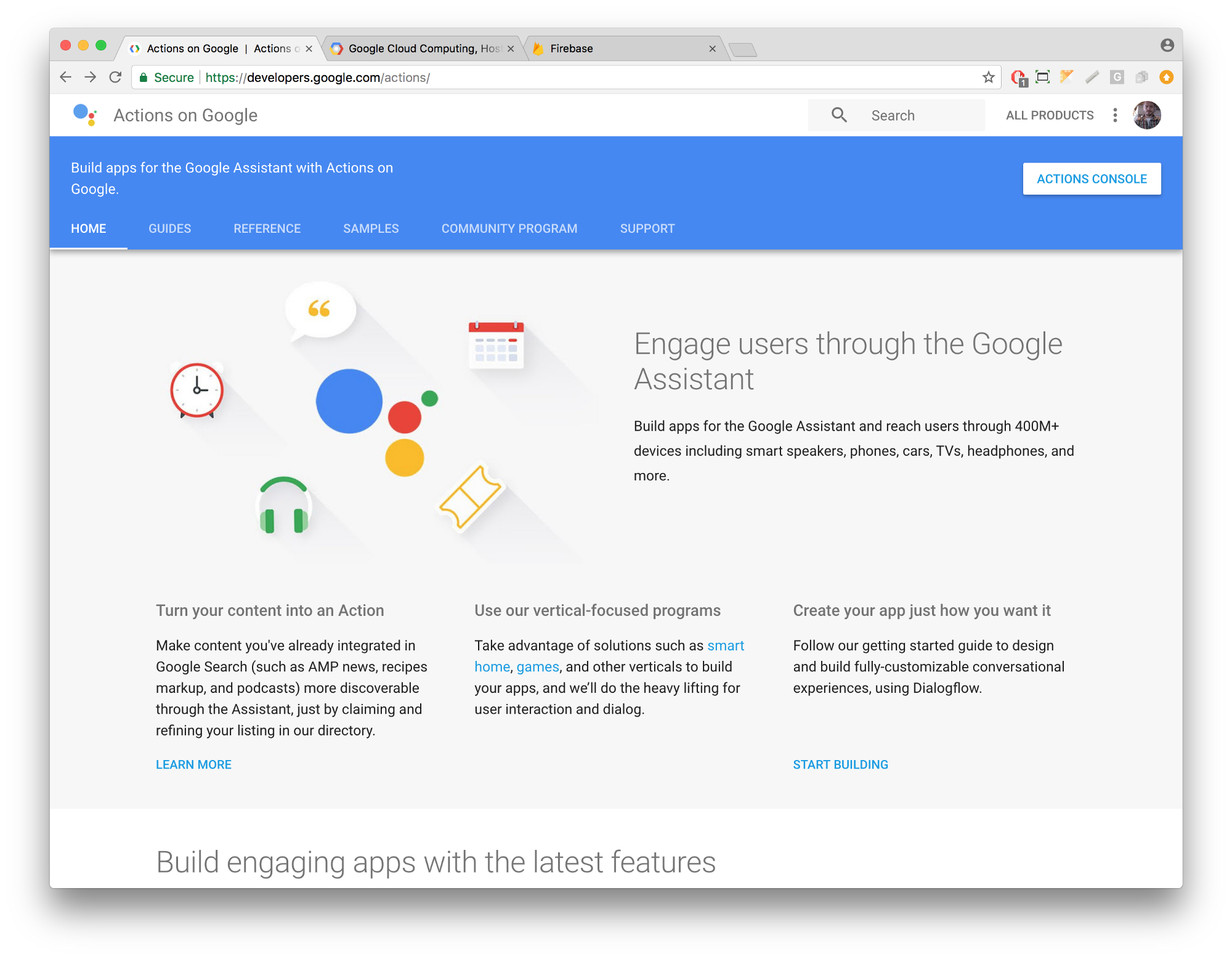 Using voice to control a website with Google Home, part 1/3