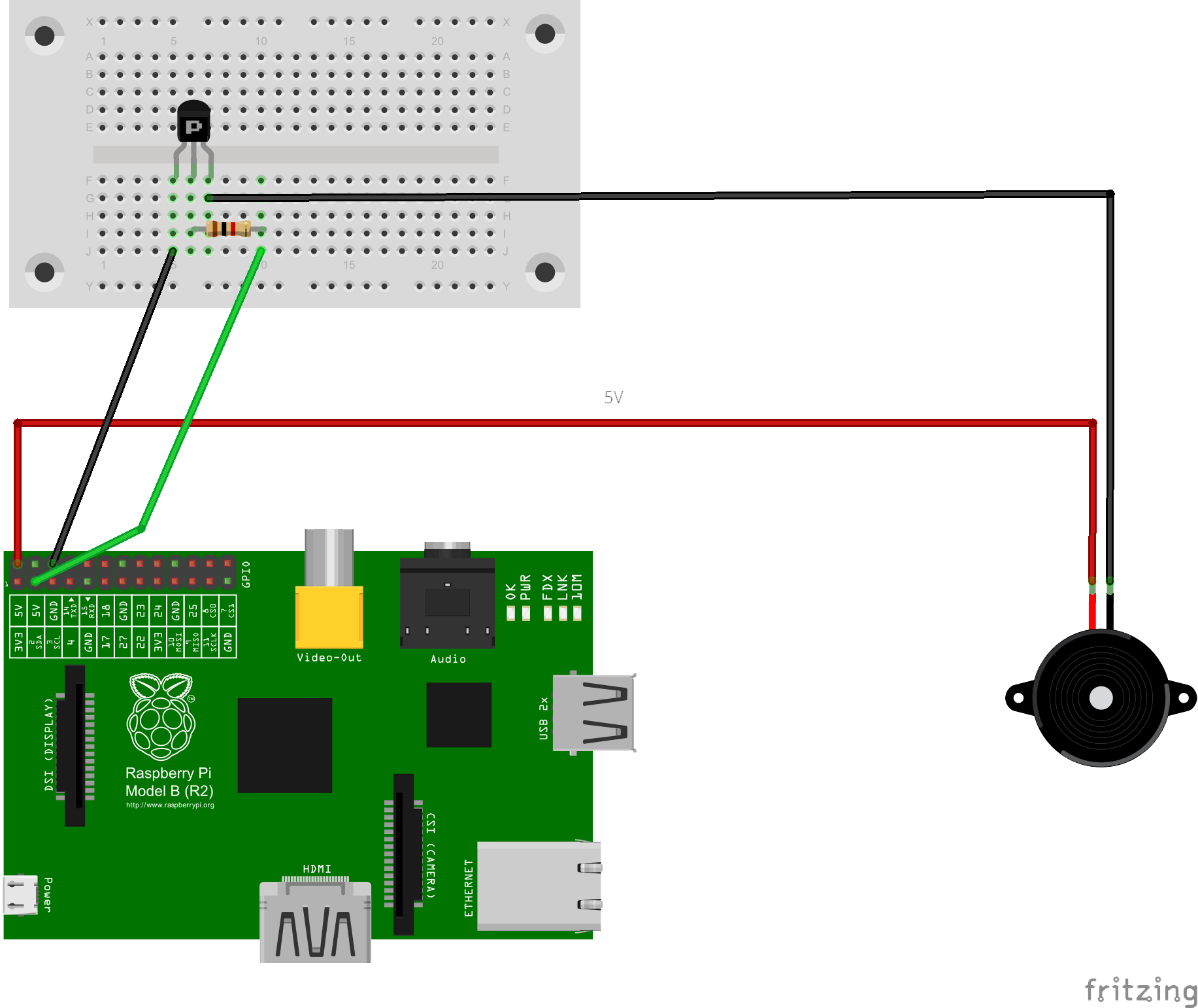 Raspberry Pi Temperature Controlled Fan Hacker Noon 4 Wire Thermometer Diagram