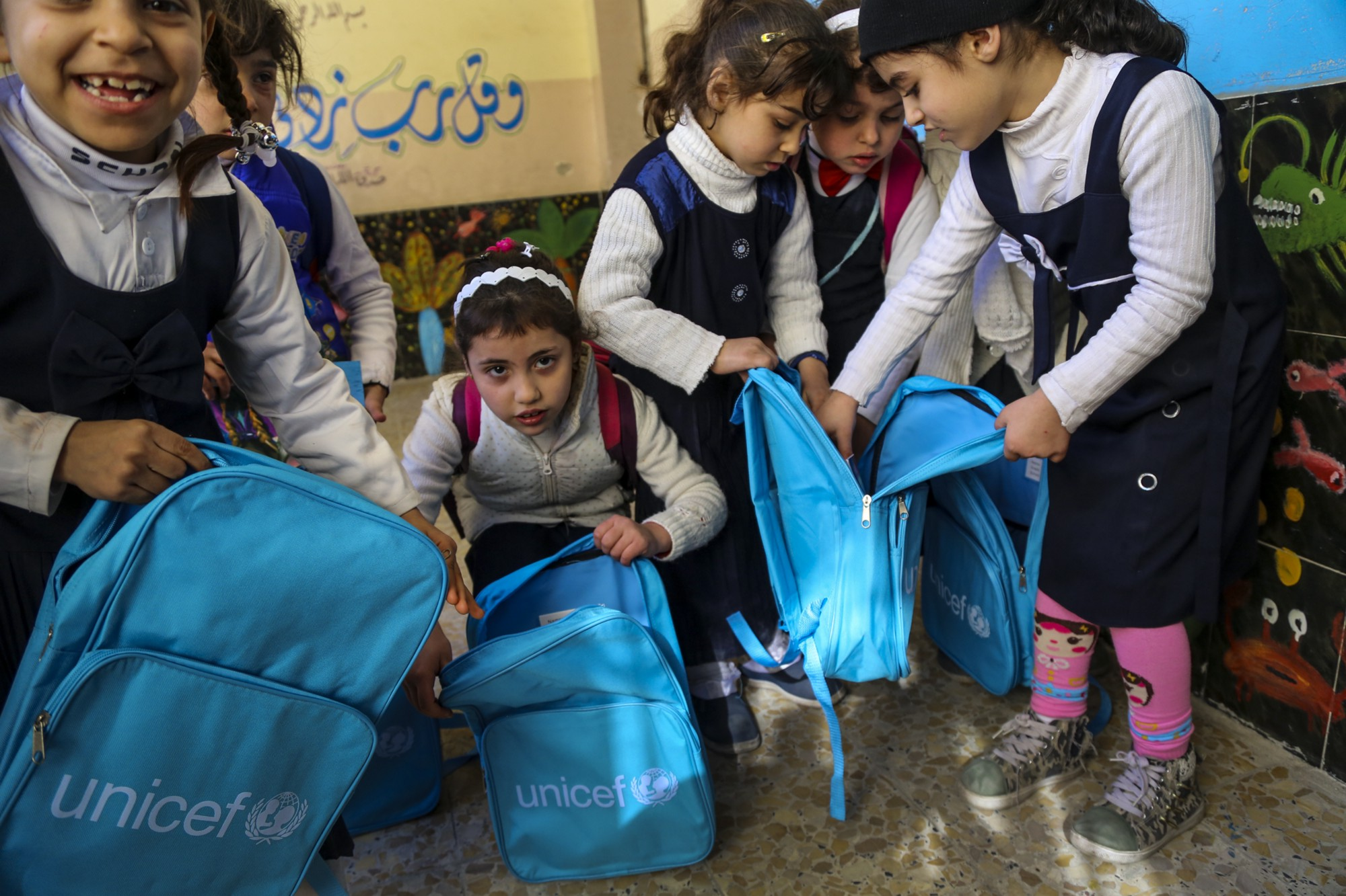 UNICEF helps 682,000 children access education in Iraq in 2016