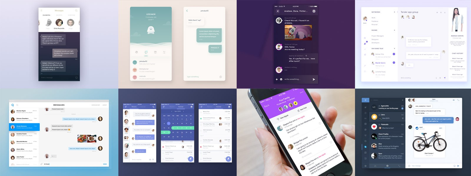 Chat Messaging Ui Inspiration Muzli Design Inspiration