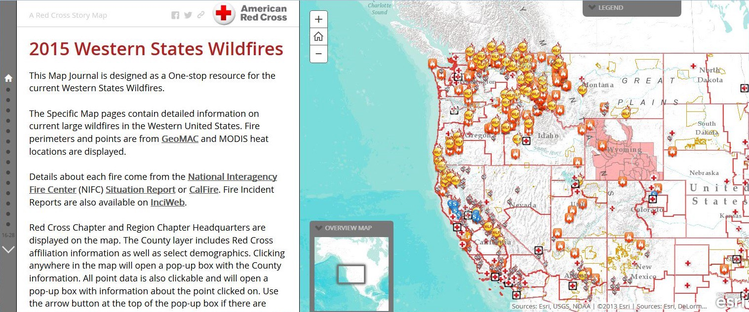 Red Cross Offers Interactive Tool To Access And Track Live Wildfire