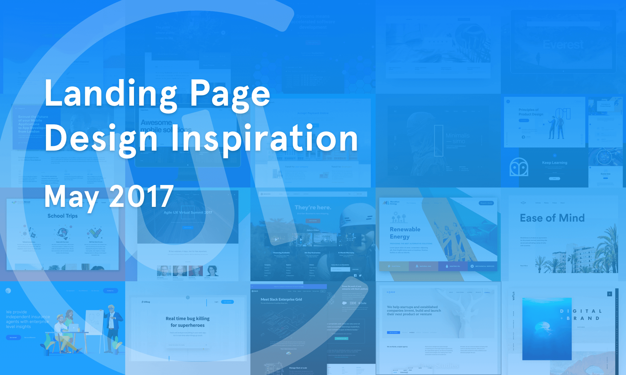 Landing Page Inspiration — May 2017 – Collect UI Design, UI / UX ...