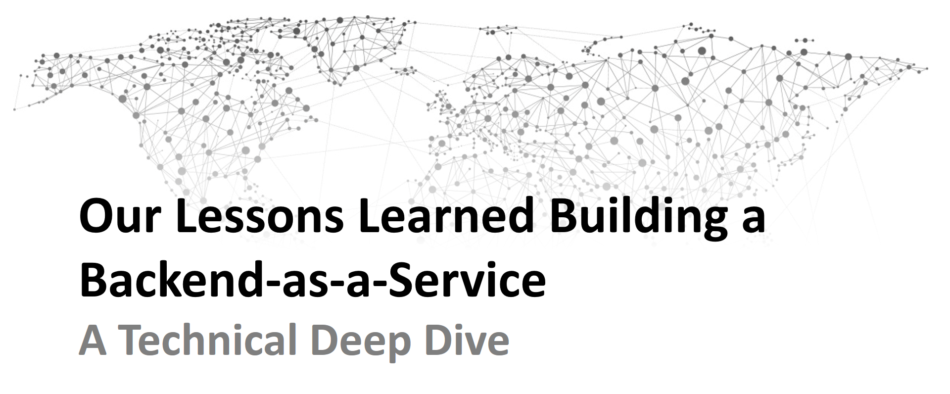 Lessons Learned Building A Backend As Service Technical Deep Dive So When I Realized You Could Build The Most Basic Of Logic Gates Not Our Platform And Therefore Would Love To Share How Everything Works At Level This Post Is Combined Writeup Different Talks We Gave