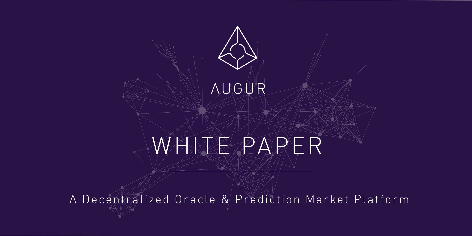 The Augur White Paper: A Decentralized Oracle And Prediction Market Platform