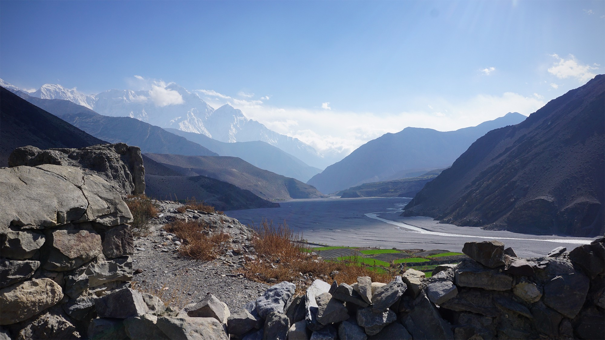 The view from Kagbeni, looking back towards Jomsom.