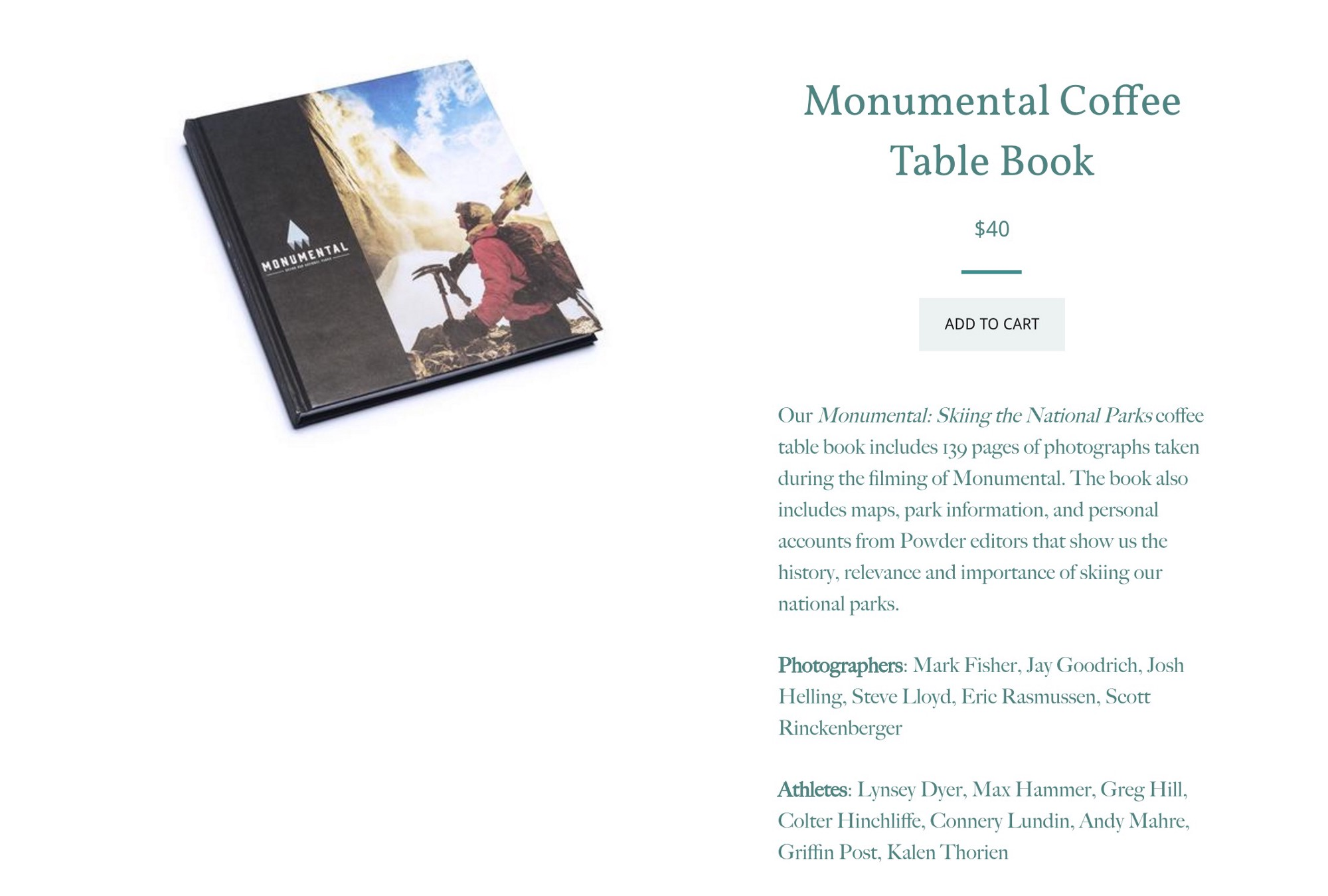 Credits Book Tour – Monumental Skiing Our National Parks