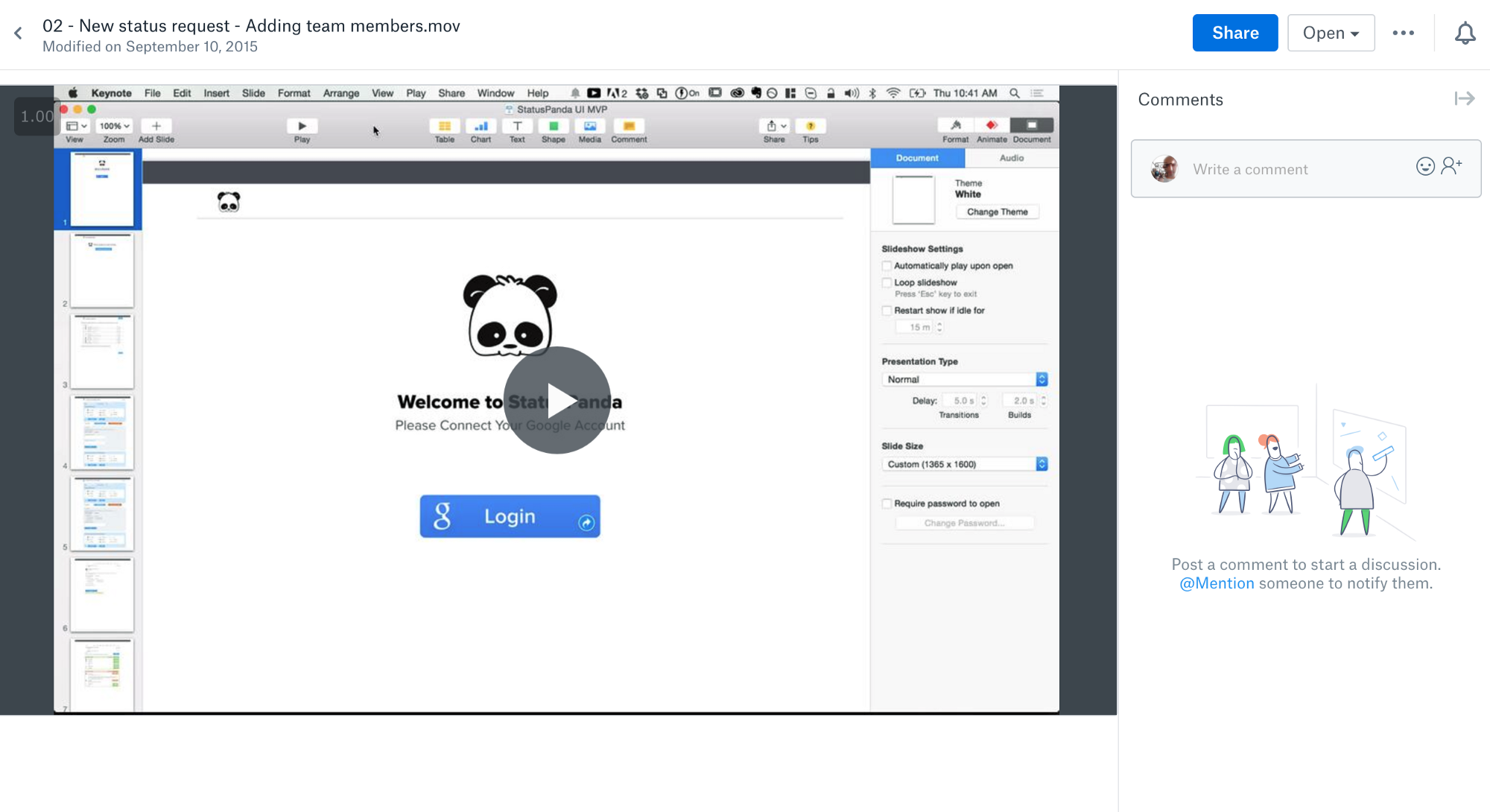 How to create product requirements in one hour or less sample video requirement for statuspanda status reporting app maxwellsz