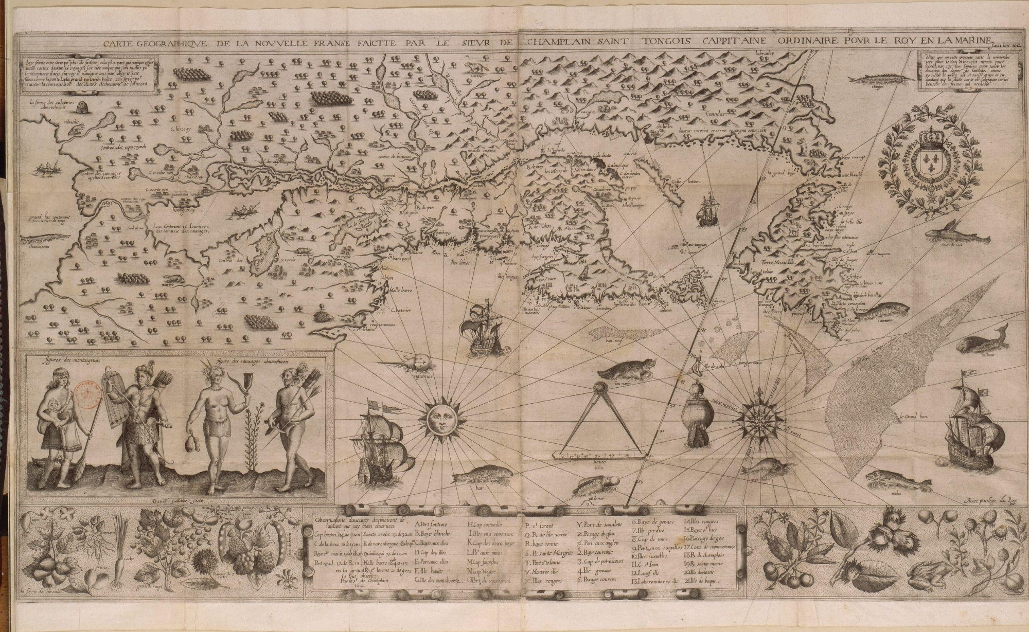 Ancient Map Of The New France Southern Regions Of The Now United States