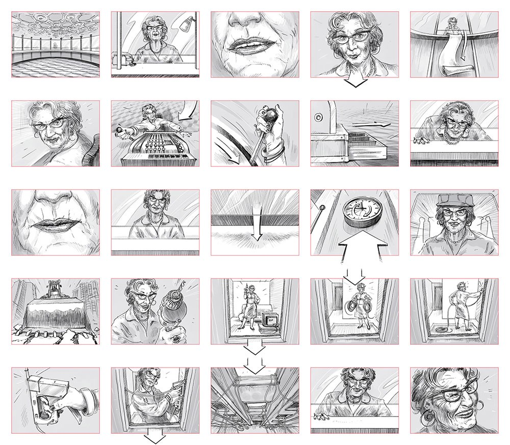_A storyboard for a film (_[_source_](http://6ign.deviantart.com/art/Mtel-Homebox-Storyboard-76830319)_)._