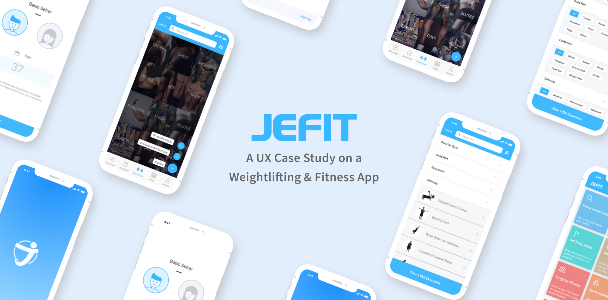 ux case study on jefit a popular bodybuilding and workout logger