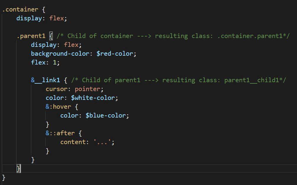 Use of Pseudo classes in SASS