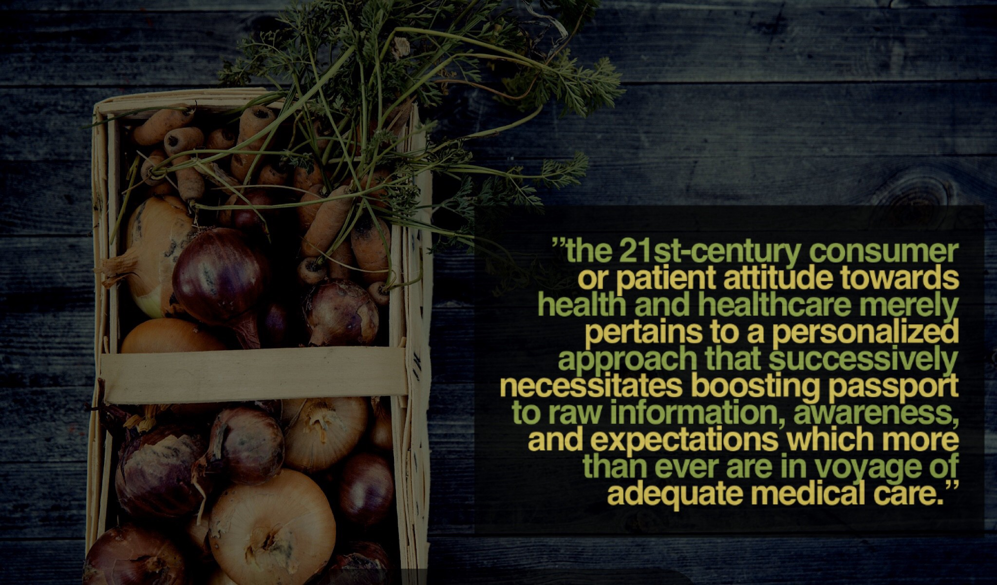 """""""The 21st-century Consumer or patient attitude towards health and healthcare merely pertains to a…"""