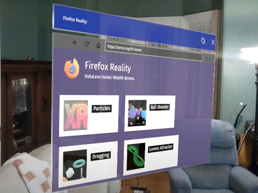 Firefox Reality on the Microsoft Hololens