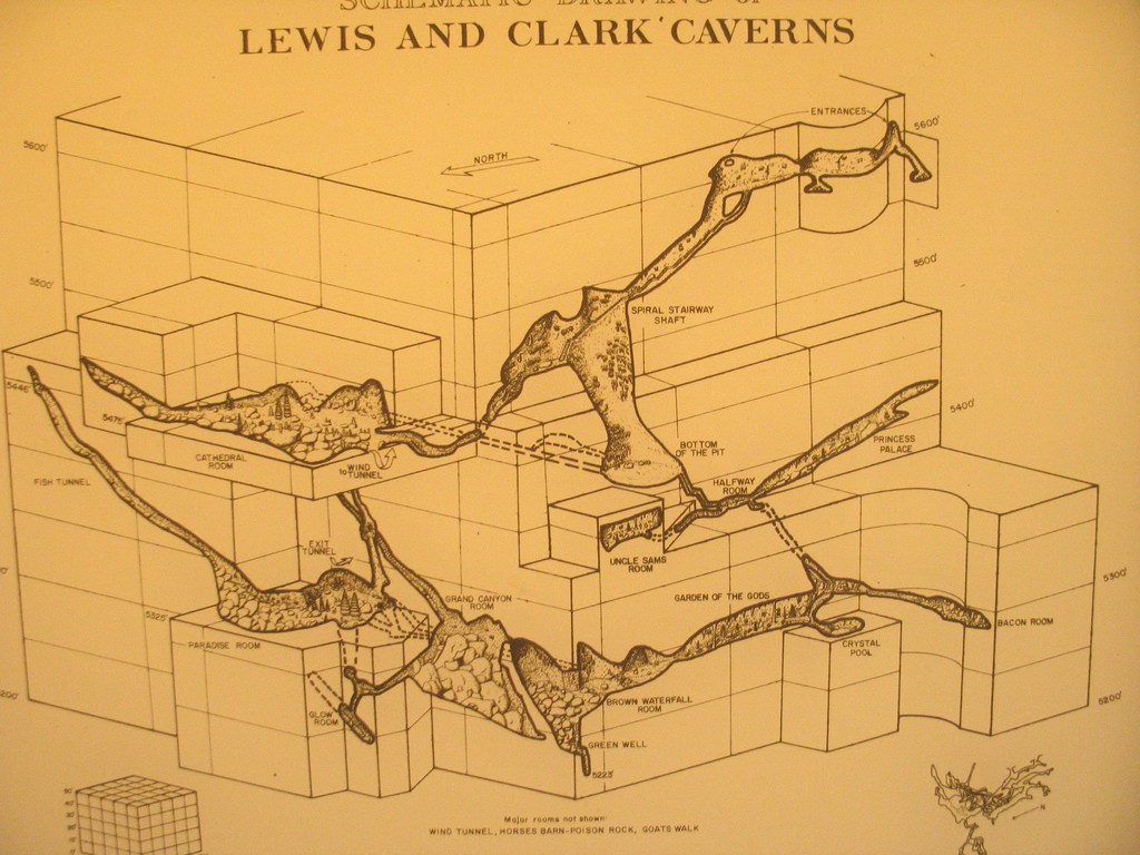Schematic Drawings of Lewis and Clark' Caverns