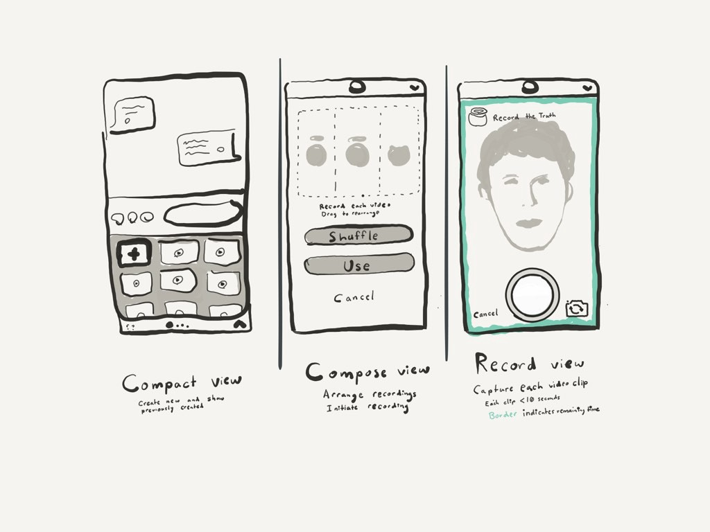 Drawing a UI mockup in Paper by 53 with Apple Pencil