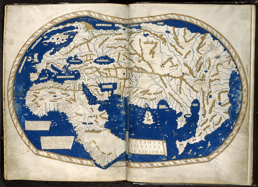 World Map in 1492