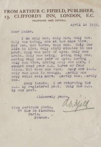 stein rejection letter